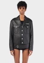 Versace Button up Leather Biker