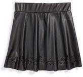 Ruby & Bloom Girl's 'Kat' Cutout Skirt