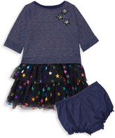 Pippa & Julie Baby Girl's 2-Piece Star-Print Tulle Dress & Bloomers Set