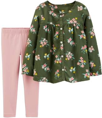 Carter's Toddler Girl Floral Top & Legging Set