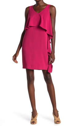 trina Trina Turk Junya Popover Ruffle Sheath Dress