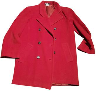 Salvatore Ferragamo Red Cashmere Coats