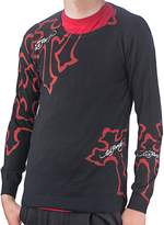 Ed Hardy Mens Panther Cross Crew Neck Sweater
