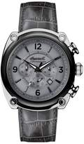 INGERSOLL WATCHES Ingersoll Michigan Leather Strap Chronograph Watch, 45mm