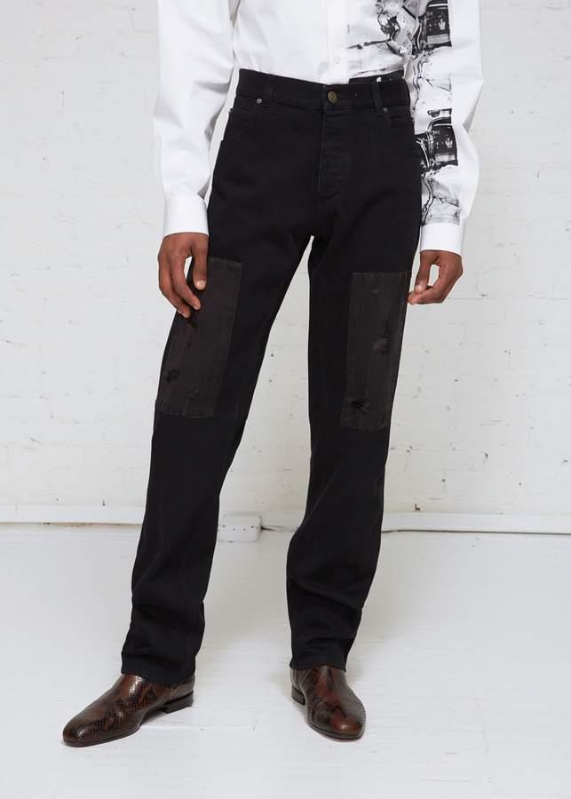 Calvin Klein Satin Patch Denim Jean