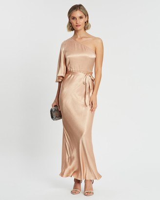 Shona Joy One Shoulder Bias Maxi Dress