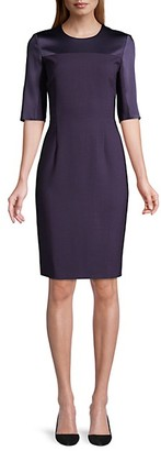 HUGO BOSS Danufa Super Stretch Virgin Wool Sheath Dress