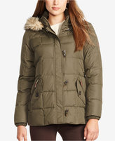 Lauren Ralph Lauren Petite Faux-Fur-Trim Quilted Toggle Jacket