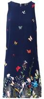 Dorothy Perkins Womens Izabel London Navy Floral Print Shift Dress, Navy