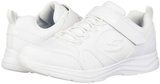 Skechers Glimmer Kicks 81445L (Little Kid/Big Kid) (White) Girl's Shoes