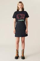 Thumbnail for your product : Ganni Raw Padded Denim Mini Skirt