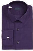 Lanvin Men's Trim Fit Check Dress Shirt