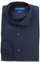 Vince Camuto Gray Print Slim Fit Dress Shirt