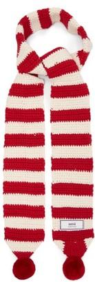 Ami Striped Hand-crocheted Scarf - White Multi