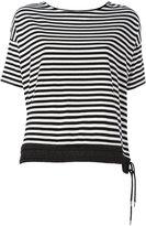 Moncler contrast hem T-shirt - women - Cotton/Polyamide/Spandex/Elastane - S