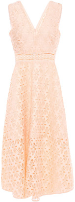 Sandro Guipure Lace Midi Dress