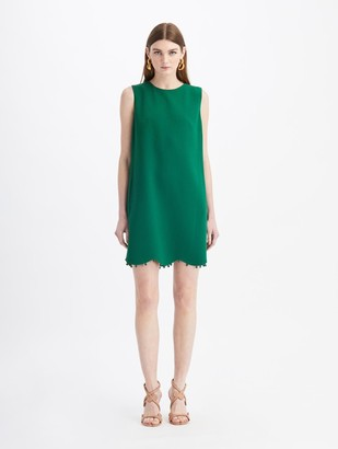 Oscar de la Renta Stretch Wool-Crepe Mini Dress