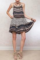 Easel Printed Strappy Dress