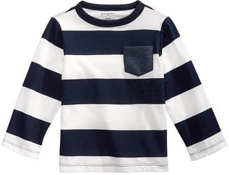 First Impressions Baby Boys Cotton Rugby Stripe T-Shirt