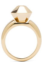 Maison Martin Margiela Jewel Brass Ring in Gold