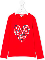 Paul Smith spot heart print top - kids - Cotton/Spandex/Elastane/Modal - 2 yrs
