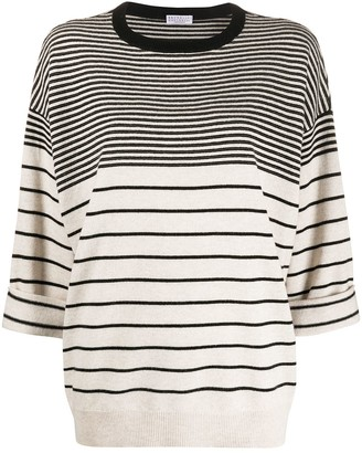 Brunello Cucinelli Oversized Multi-Stripe Jumper