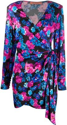 Andamane Carly floral-print wrap dress