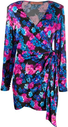 Andamane Carly floral-print wrap dress