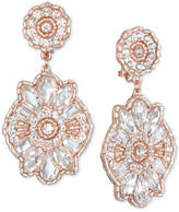 Badgley Mischka Crystal Cluster Drop Earrings