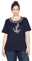Alfred Dunner Women's Anchor Knit Top