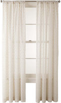 JCPenney JCP Home Collection HomeTM Sasha Rod-Pocket Cotton Sheer Panel
