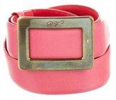Roger Vivier Buckle Leather Belt