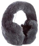 Glamour Puss Glamourpuss Grey Fur Earmuffs w/ Tags