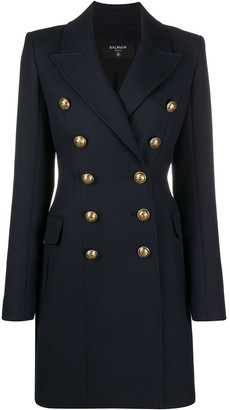 Balmain Double-Breasted Midi-Length Coat