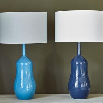 William Yeoward Appia Ceramic Table Lamp Base - Indigo