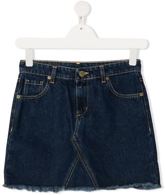 Chiara Ferragni Kids TEEN logo-embroidered denim mini skirt