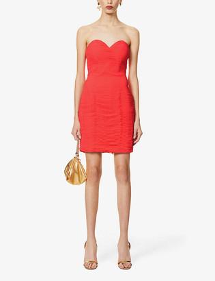 Lavish Alice Sweetheart-neck chiffon mini dress
