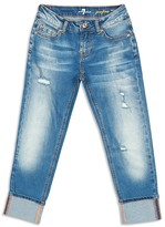 7 For All Mankind Girls' Josefina Fitted Boyfriend Jeans - Sizes 7-14