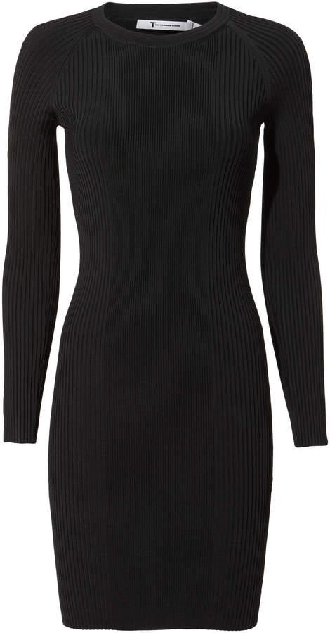 Alexander Wang Bra Strap Ribbed Dress