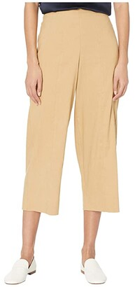 Vince Crop Wide Pants (Sun Khaki) Women's Casual Pants