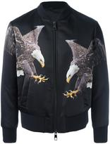 Neil Barrett eagle print bomber jacket - men - Cotton/Polyamide/Polyester/Viscose - M