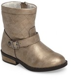 Jessica Simpson Toddler Girl's Payton Quilted Metallic Bootie