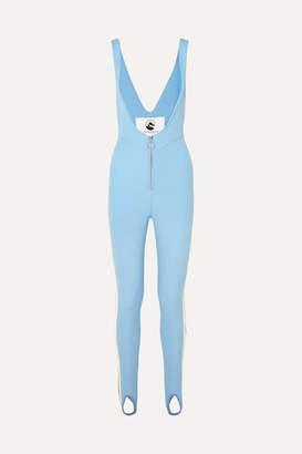 Cordova The Vail Striped Stirrup Stretch Ski Suit - Light blue