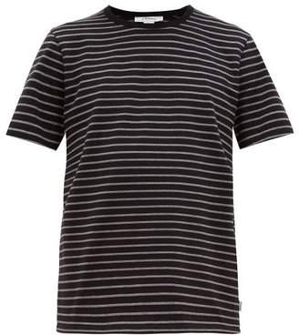Frame Striped Cotton-jersey T-shirt - Mens - Black Multi