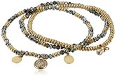 Kenneth Cole New York Mixed Black Diamond Faceted Bead Stretch Bracelet