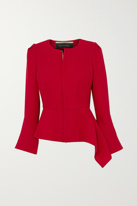 Roland Mouret Noto Asymmetric Wool-crepe Jacket - Red