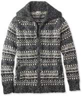 L.L. Bean Cotton Ragg Sweater, Cardigan Fair Isle