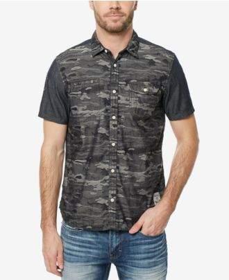 Buffalo David Bitton Men's Sakila Camouflage Shirt