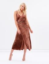 The Jerry Hall Velvet Wrap Dress