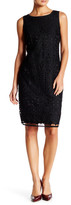 Chetta B Solid Lace Fitted Dress